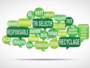 nuage de mots bulles : recyclage